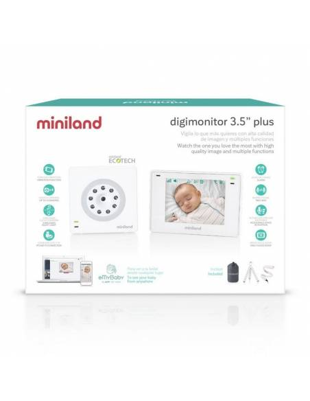 miniland-cámara-vigilabebés-digimonitor-3,5-pulgadas-plus-caja