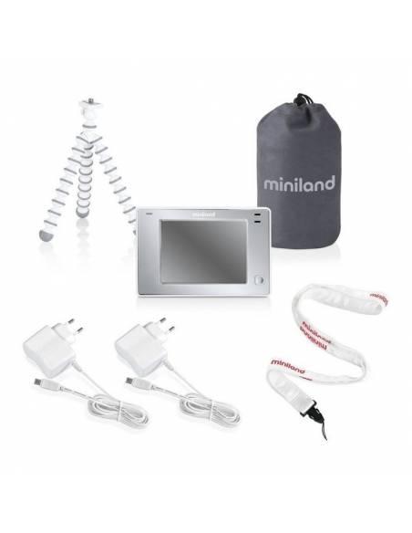 miniland-cámara-vigilabebés-digimonitor-3,5-pulgadas-touch-accesorios